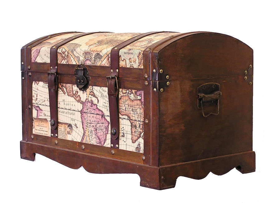Old World Map Trunk